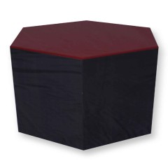 Pulcro Red & Brown Hexagonal Stools (PU)