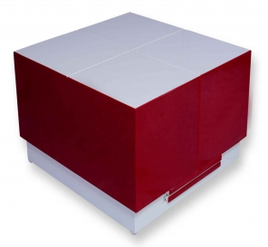 Cryno Red & White Center Table (PU)