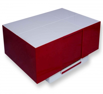 Cryno Red & White Center Table (Polyester-MICA)