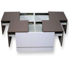 Arcade Junior Beige & White Center Table (PU)