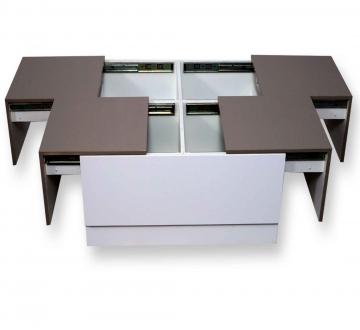 Arcade Junior Beige & White Center Table (PU)