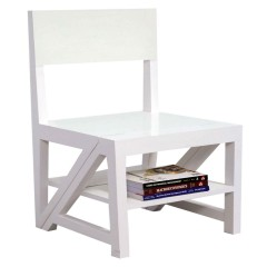 Rejig Chair Ladder White (PU)