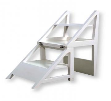 Rejig Chair Ladder White (PU)
