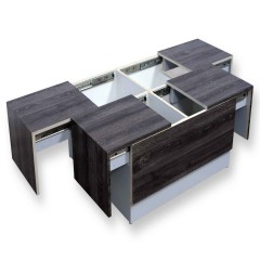 Arcade Junior Grey Ebony Center Table (PU)