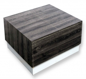 Arcade Junior Grey Ebony Center Table (Raw Mica)
