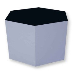 Pulcro Black & White Hexagonal Stools (PU)