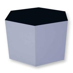Pulcro Black & White Hexagonal Stools (PU)