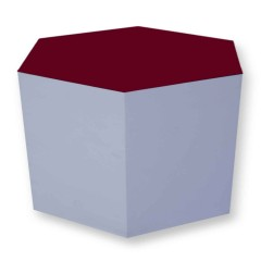 Pulcro Red & White Hexagonal Stools (PU)