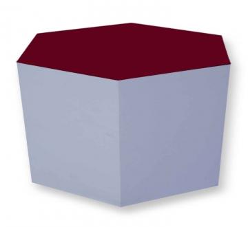Pulcro Red & White Hexagonal Stools (PU)
