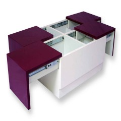 Arcade Junior Purple & White Center Table (PU – MICA Combo)