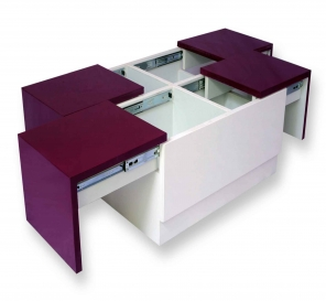 Arcade Junior Purple & White Center Table (PU Metallic – MICA Combo)