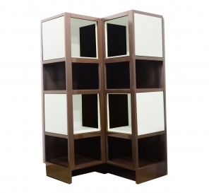 Alcove Brown White Extendable Corner Cabinet