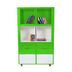 Creser Green White Extendable Moving Cabinet