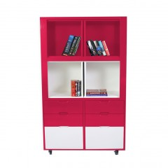 Creser Red White Extendable Moving Cabinet