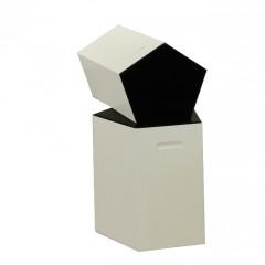 Pulcro Black & White Pentagonal Stools (PU)