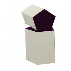 Pulcro Purple & White Pentagonal Stools (PU)