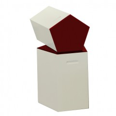 Pulcro Red & White Pentagonal Stools (PU)