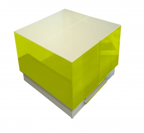 Cryno Parrot Green & White Center Table (PU)