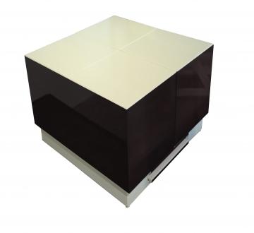 Cryno Dark Grey & White Center Table (PU-MICA)