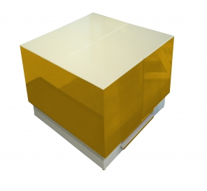 Cryno Mustard Yellow & White Center Table (PU)