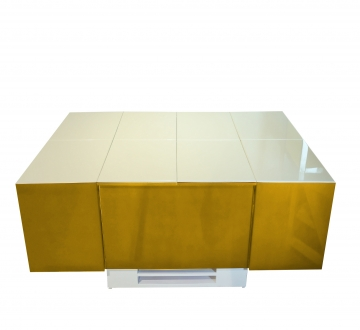 Cryno Mustard Yellow & White Center Table (PU)