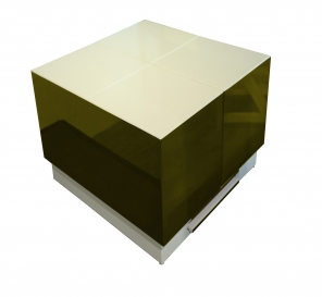 Cryno Olive Green & White Center Table (PU)