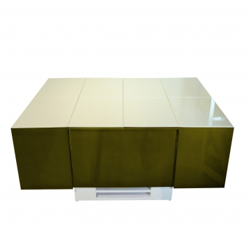 Cryno Olive Green & White Center Table (Polyester Top)