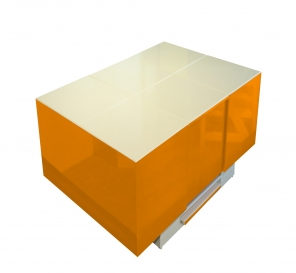 Cryno Orange & White Center Table (PU)