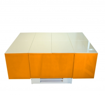 Cryno Orange & White Center Table (PU)