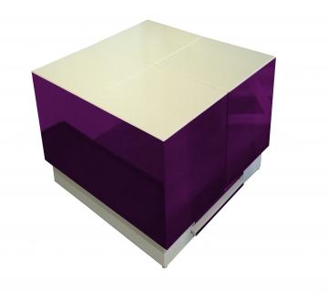 Cryno Purple & White Center Table (PU)
