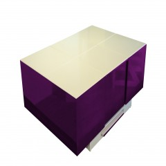 Cryno Purple & White Center Table (PU)