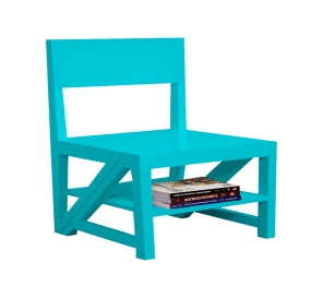 Rejig Chair Ladder Cyan (PU)