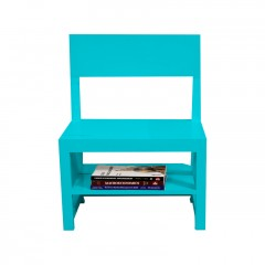 Rejig Chair Ladder Cyan (Satin)