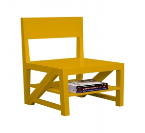 Rejig Chair Ladder Mustard Yellow (PU)