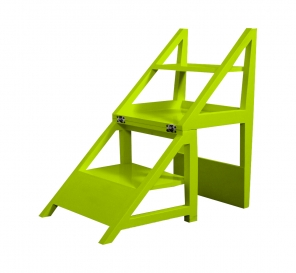 Rejig Chair Ladder Green (Satin)