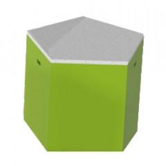 Pulcro Green & White Pentagonal Stools (PU)