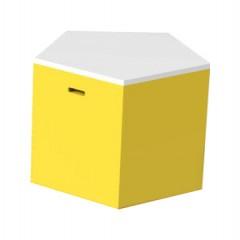 Pulcro Yellow & White Pentagonal Stools (PU)